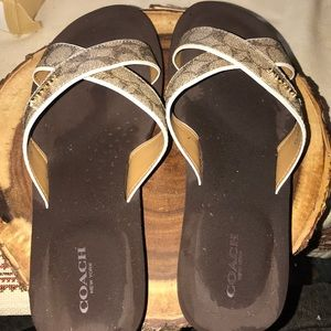Authentic coach pre owned sandals
